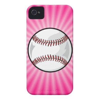 Softball rosado Case-Mate iPhone 4 carcasas