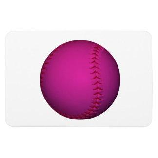 Softball rosado imán flexible