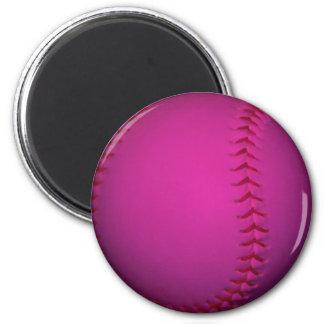 Softball rosado imanes para frigoríficos
