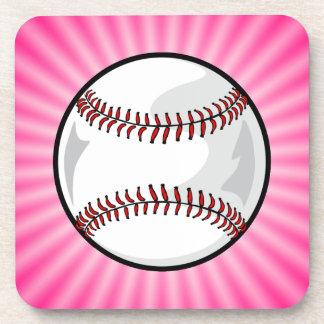 Softball rosado posavasos de bebidas