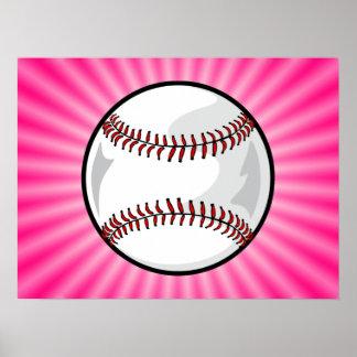 Softball rosado póster