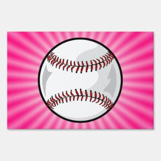 Softball rosado señales