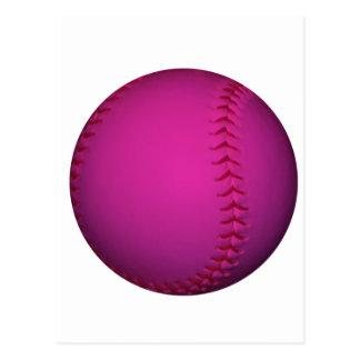 Softball rosado postal
