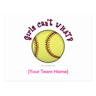 Softball-Rosado Tarjetas Postales