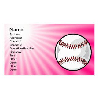 Softball rosado tarjetas de visita