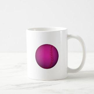 Softball rosado tazas
