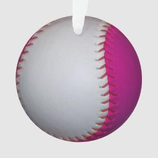 Softball rosado y blanco