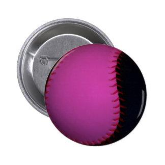 Softball rosado y negro pins