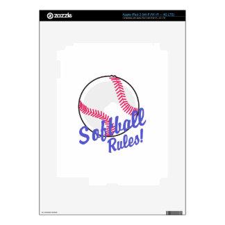 Softball Rules! iPad 3 Skins