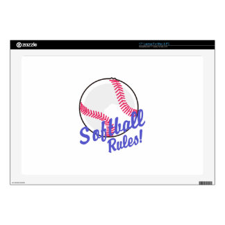 Softball Rules! Laptop Skin
