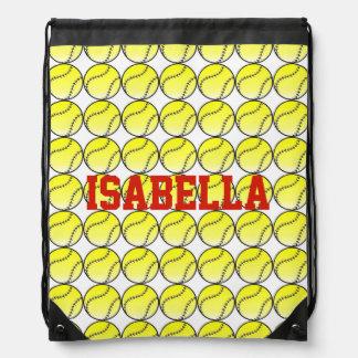Softball Sack Drawstring Backpack