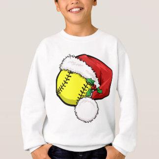 Softball Santa Cap Sweatshirt