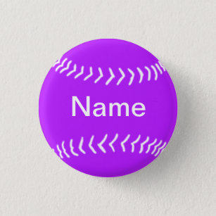 Softball Keychain with Batter Silhouette