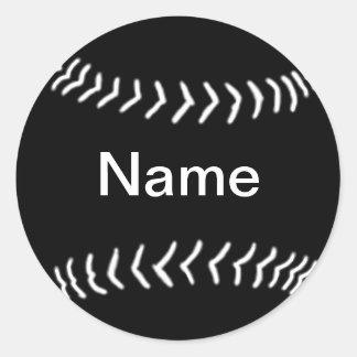 Softball Silhouette Sticker Black