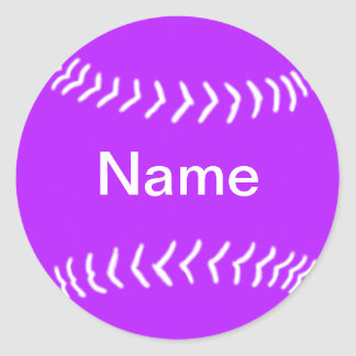 Softball Silhouette Sticker Purple