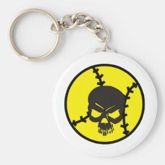 softball Skull Key Chain