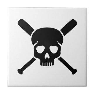 Softball skull tile