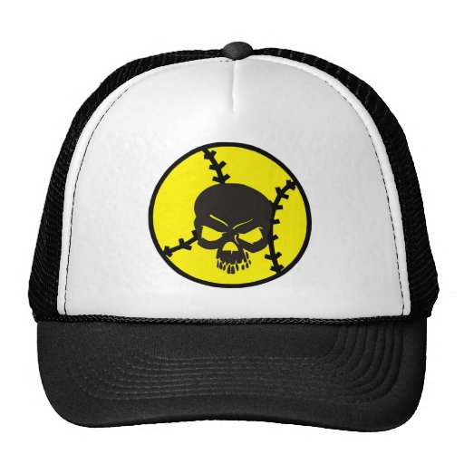 softball Skull Trucker Hat