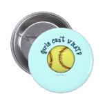 Softball-Sky Blue Buttons