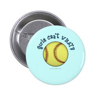 Softball-Sky Blue Pinback Button