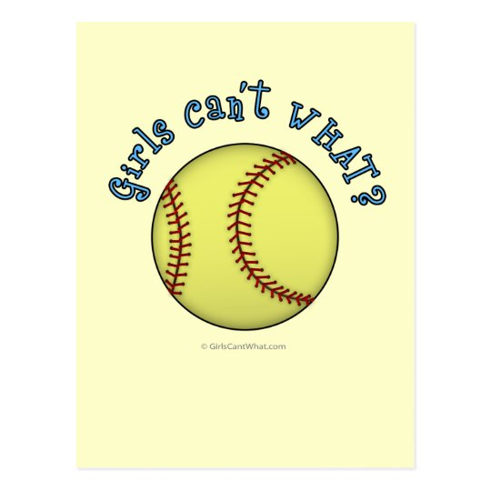 Softball-Sky Blue Postcard