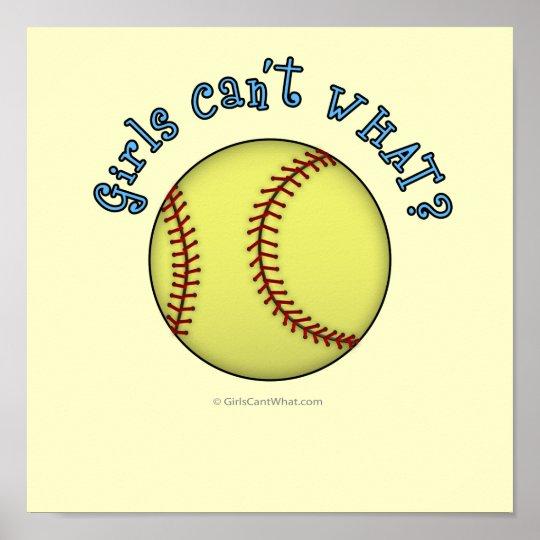 Softball-Sky Blue Poster