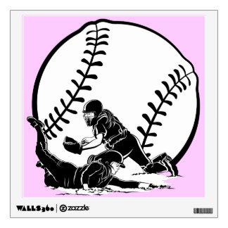 Softball Slide Home Wall Sticker