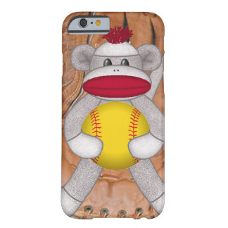 Softball Sock Monkey iPhone or Smart Phone Case iPhone 6 Case