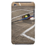 Softball, softball glove and bat at home plate barely there iPod cover