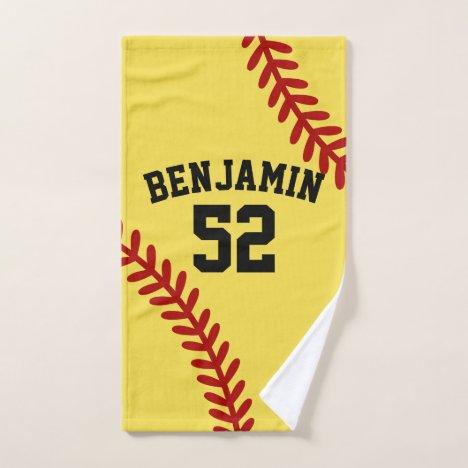 softball sports towel, coach bath towel