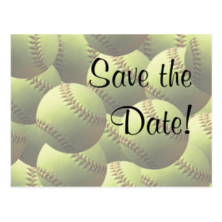Softball Sports Wedding Theme Save the Date! Postcard