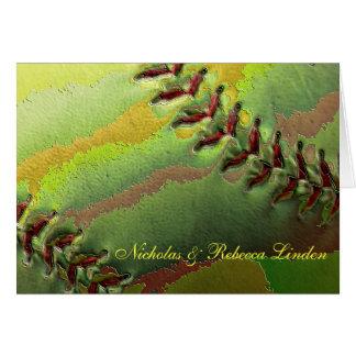 Softball Sports Wedding Theme Thank You Card
