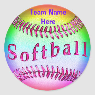 Softball Stickers with YOUR TEAM NAME