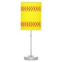 Softball Stitches Table Lamp