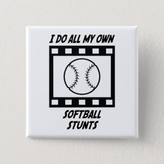 Softball Stunts Pinback Button