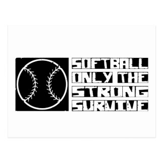 Softball Survive Postcard