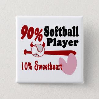 Softball Sweetheart Pinback Button