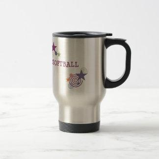 Softball Swirl Travel Mug