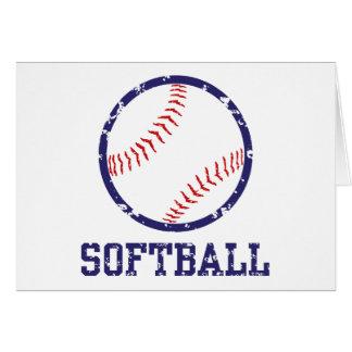 Softball Tarjeta