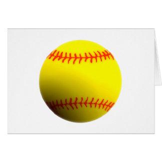 Softball Tarjeta De Felicitación
