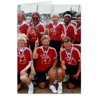 Softball team are competitors at the National Card