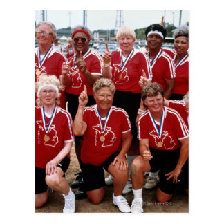 Softball team are competitors at the National Post Cards