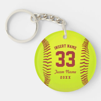 Softball Team Custom Keychain