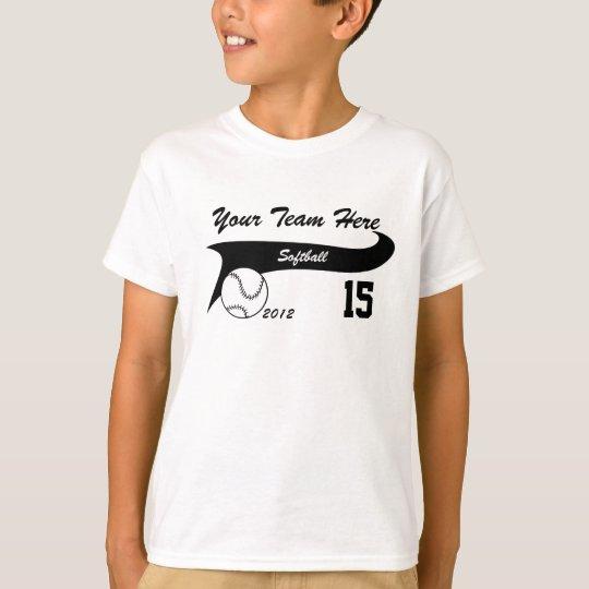 Softball Team Custom T-Shirt