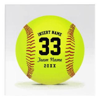 Softball Team Personalized Name Decor
