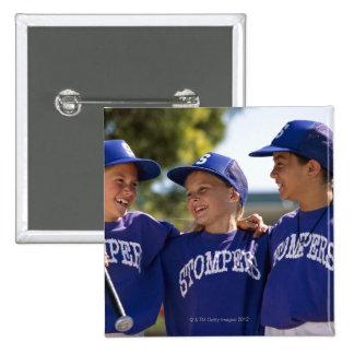 Softball teammates button