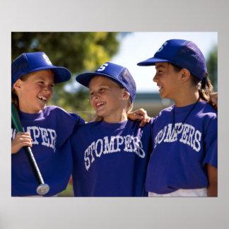 Softball teammates poster