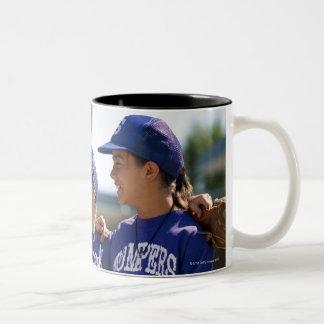 Softball teammates Two-Tone coffee mug