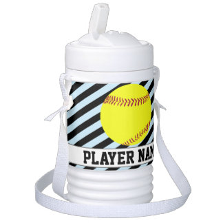 Softball (Tee-Ball) Sky Blue Team & Player Name Beverage Cooler