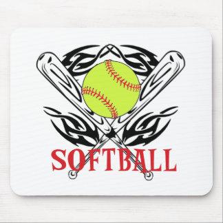Softball tribal mousepads